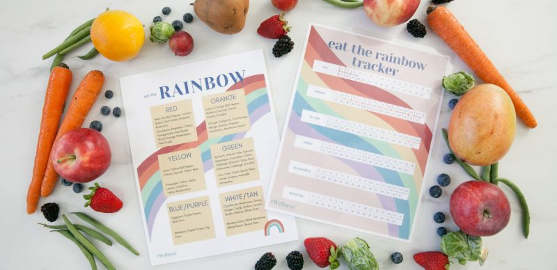 eat the rainbow healthy eating kids printable free pdf