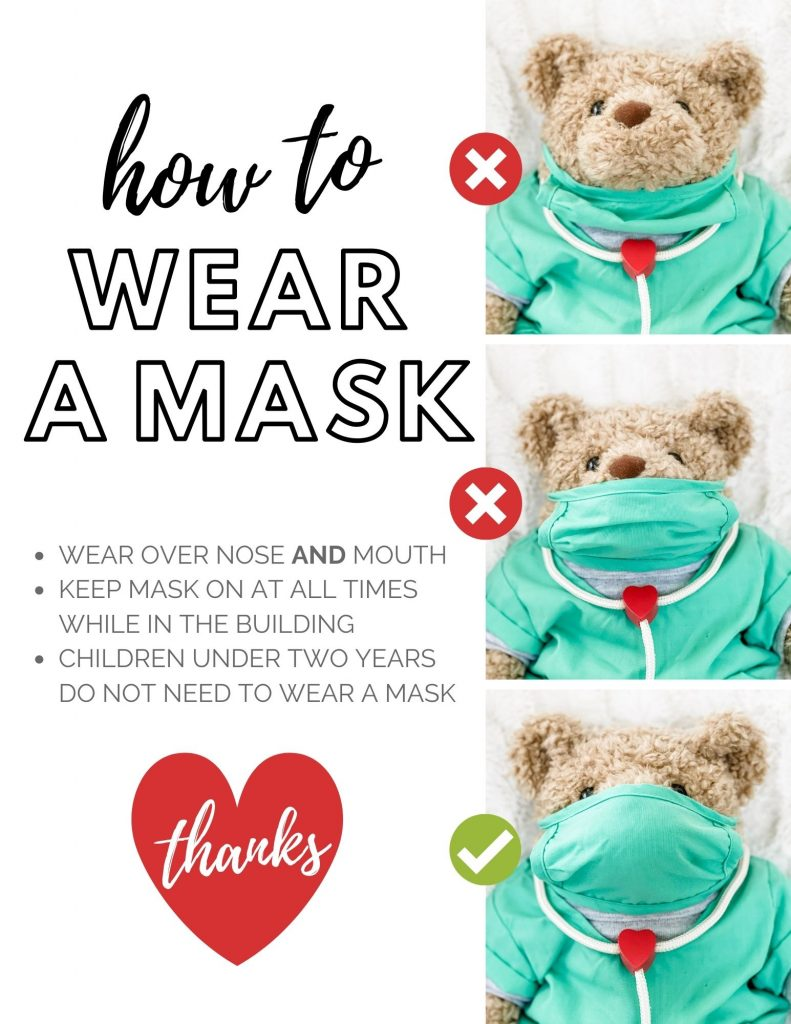 how to wear a mask flyer free