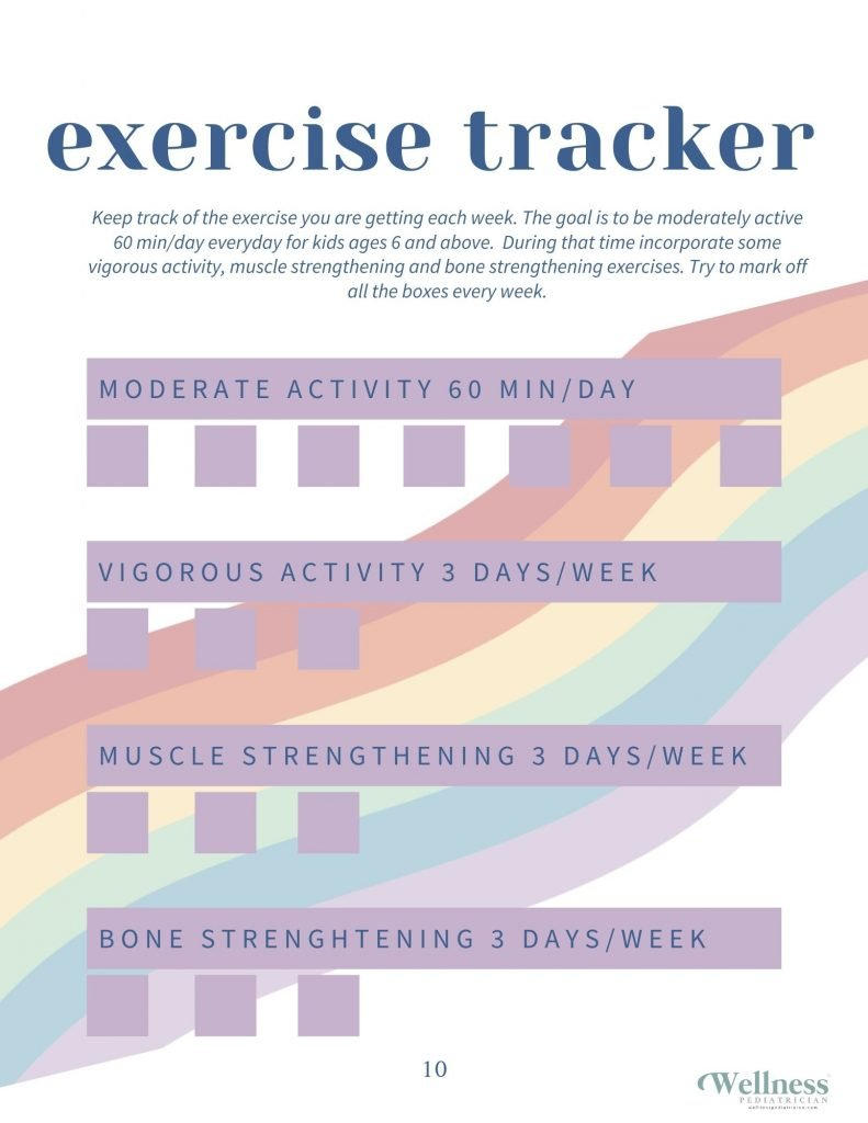 exercise tracker kids wellness pediatrician