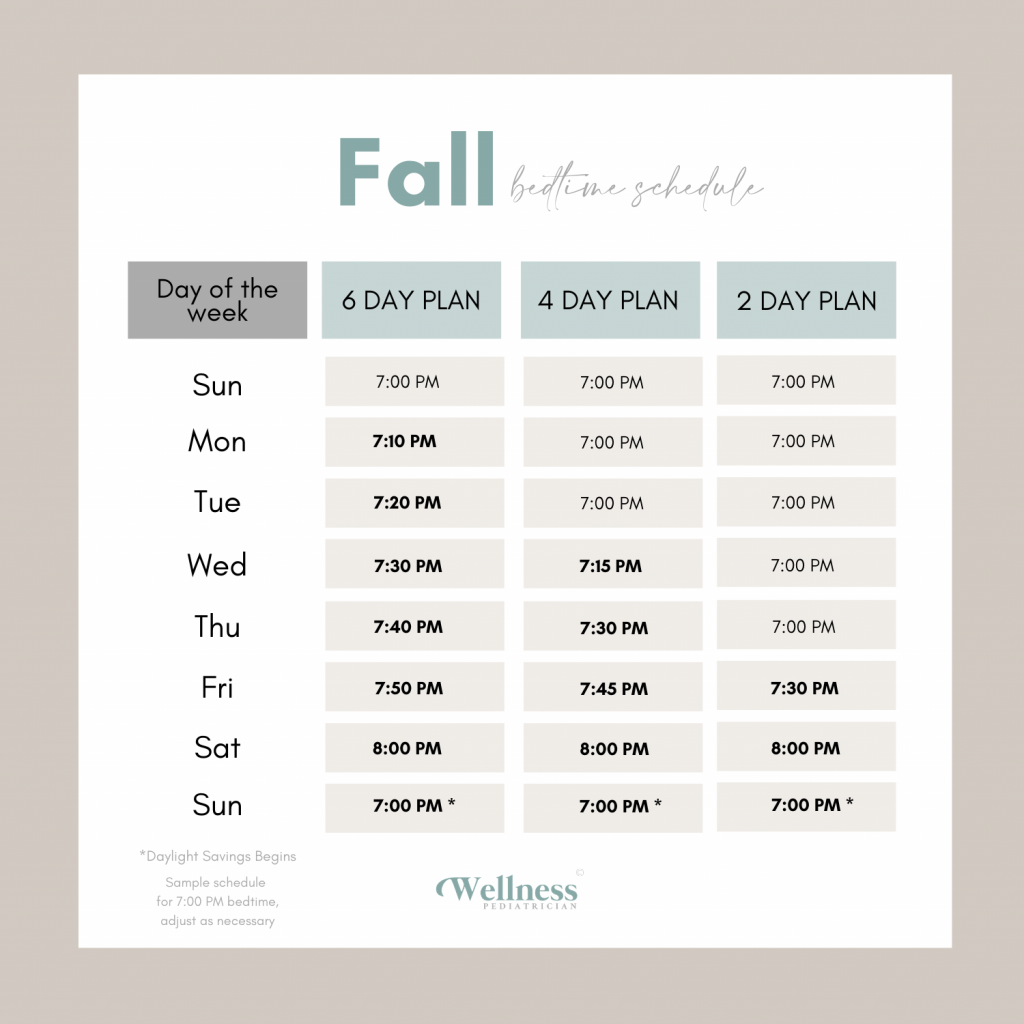 how to adjust baby time change fall bedtime schedule