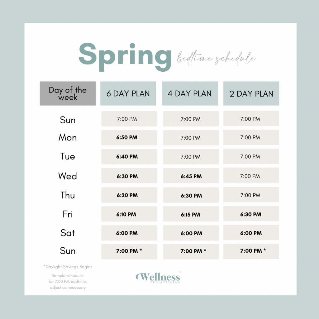 how to adjust baby time change spring bedtime schedule wellness pediatrician